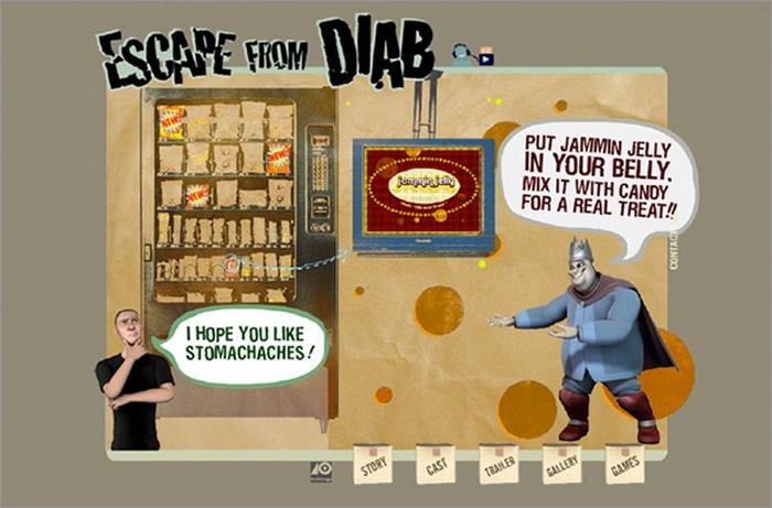 Видеоигра о побеге от вредной еды.