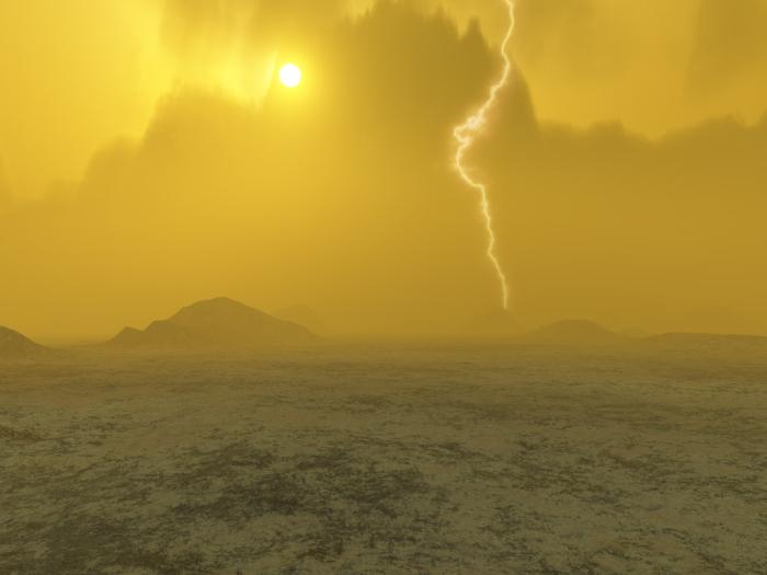 Обычный венерианский пейзаж.