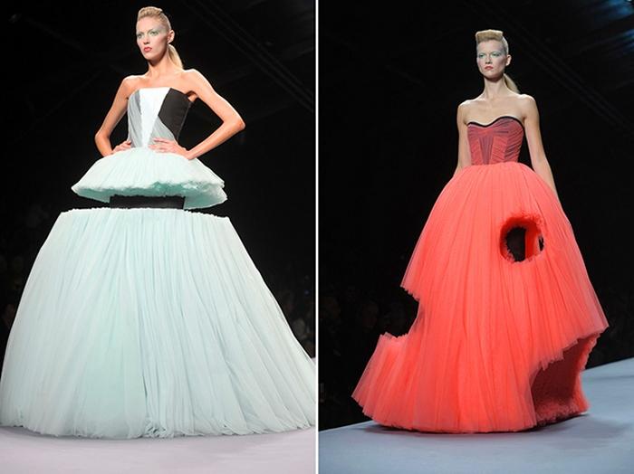 Невероятные платья от Viktor & Rolf.