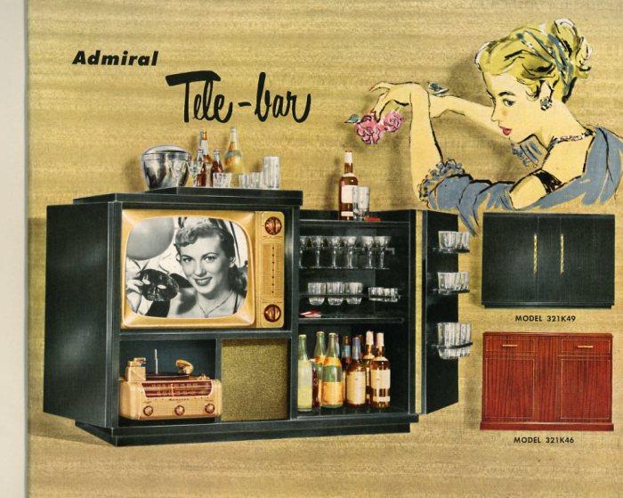 Телевизор со встроенным мини-баром.