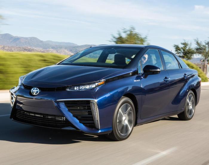 Toyota Mirai - один из самых известных водородных авто.