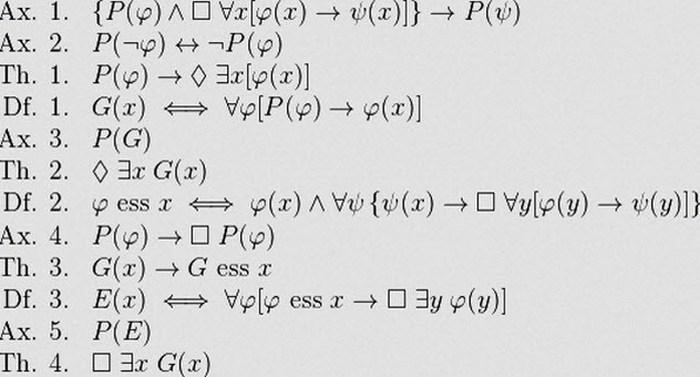 Онтологическое доказательство Геделя