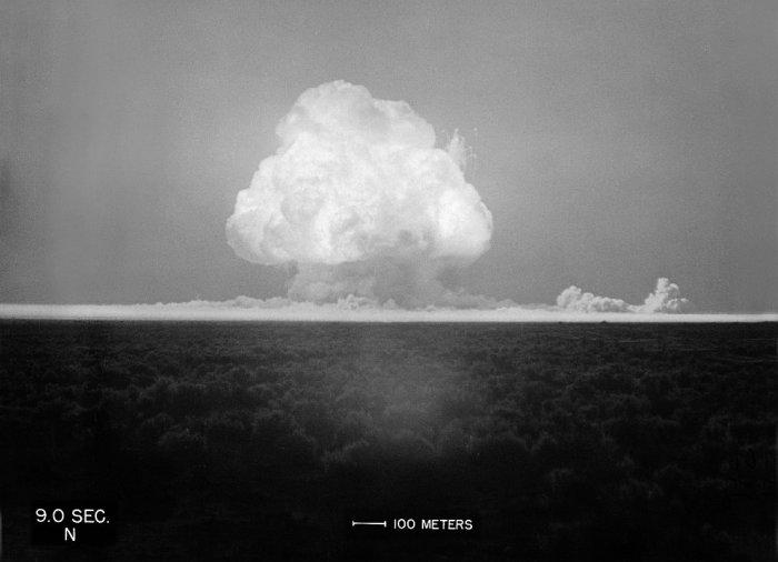 Фотография с ядерных испытаний.
