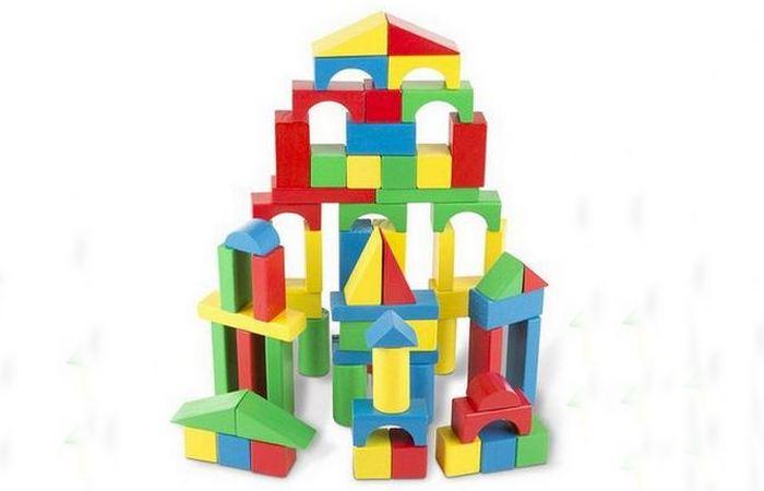 Набор деревянных строительных блоков Melissa & Doug.