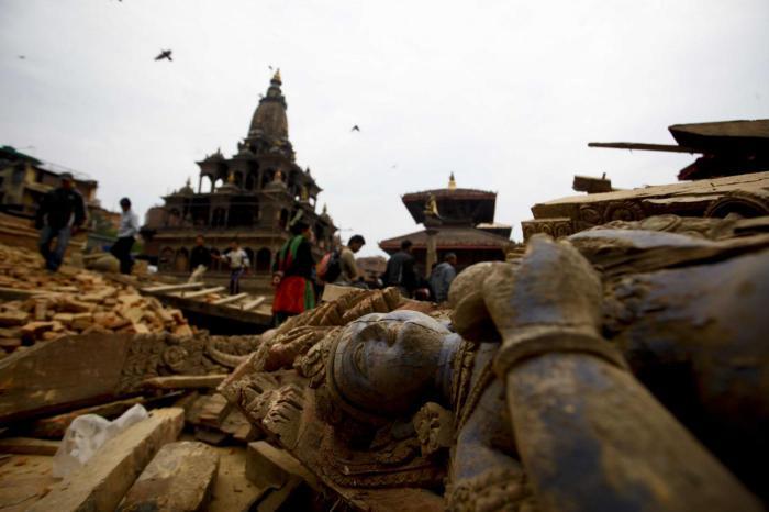 Землетрясение в Непале.