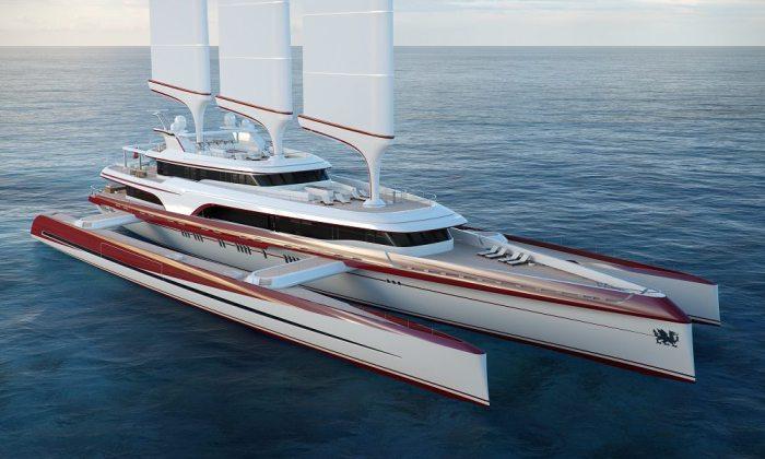 Самая футуристическая в мире яхта.