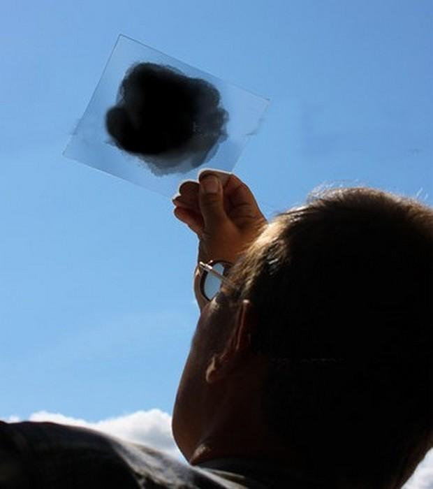 Закопченное стекло.