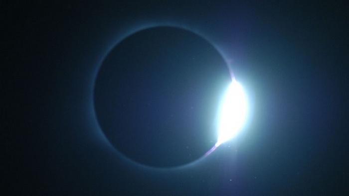 Самый безопасный способ наблюдения затмения.