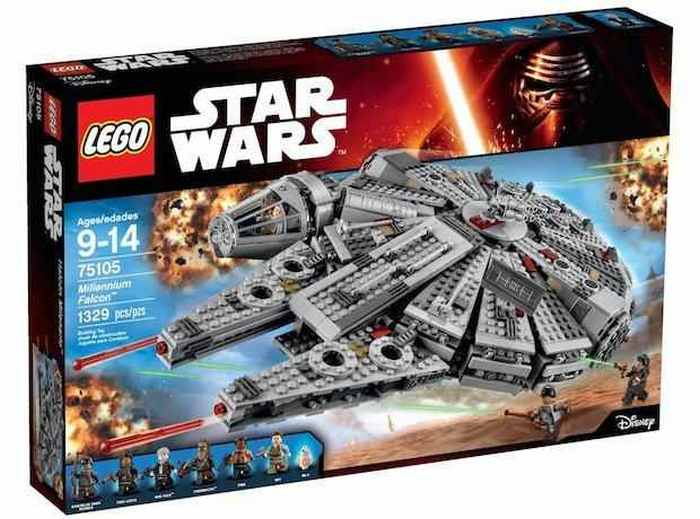 Lego - набор Star Wars millennium falcon.