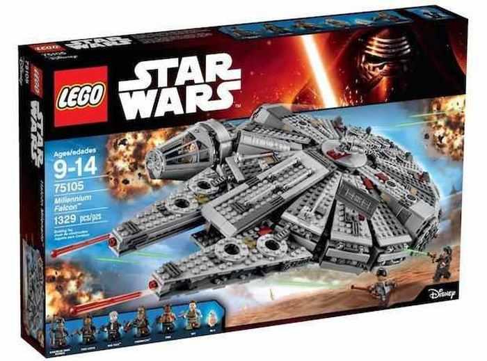Lego - набор Star Wars millennium falcon.