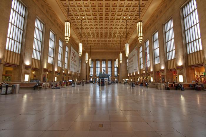 Железнодорожная станция на 30 Стрит: интерьер помещения