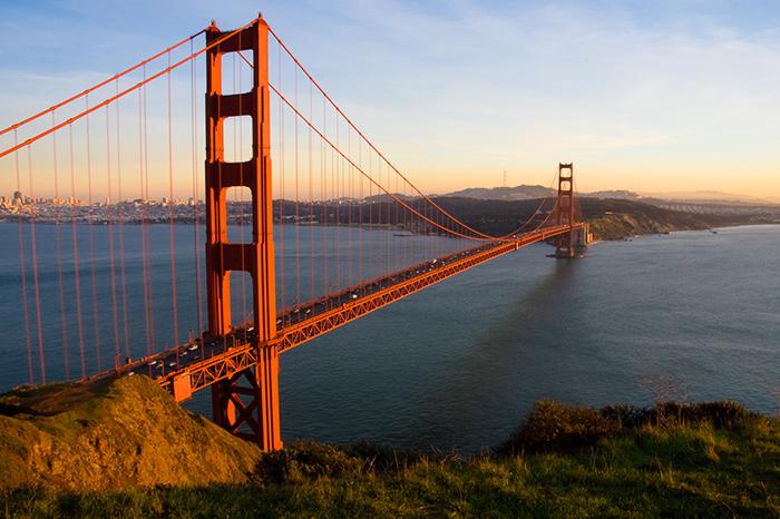 Мост 'Золотые Ворота' в Сан-Франциско, США