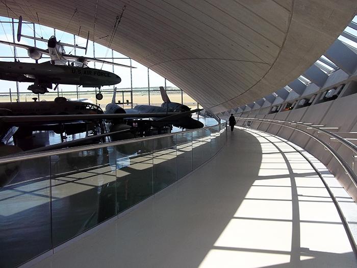 Музей американских воздушных сил в Кембридже: интерьер помещения