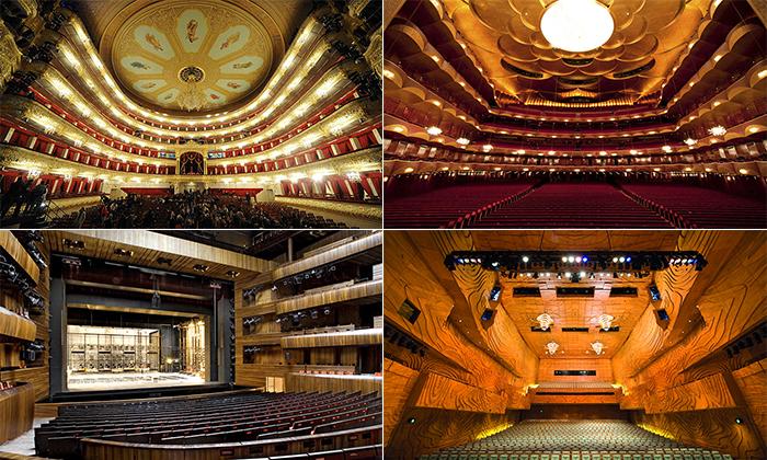 25 concertos mais impressionante salas de todo o mundo, para visitar cada freqüentador de teatro