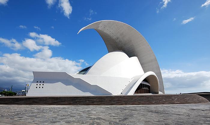 Opera House 'Auditorio de Tenerife' em Santa Cruz de Tenerife, Espanha