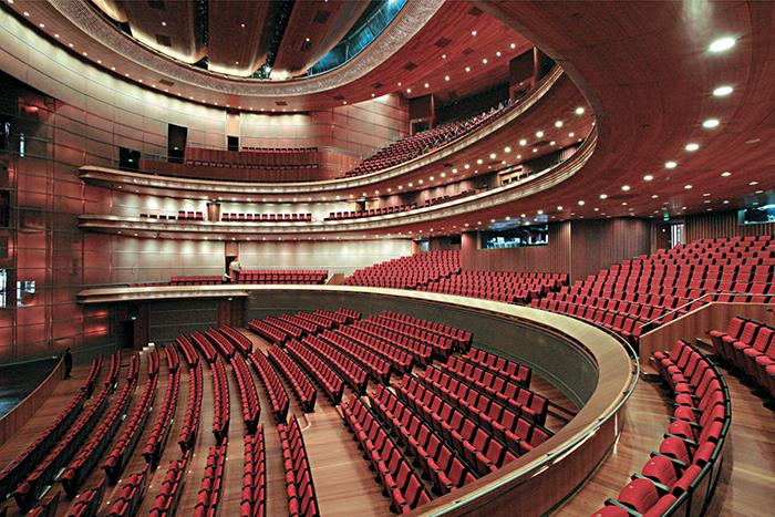 Китайский национальный театр в Пекине: интерьер зала