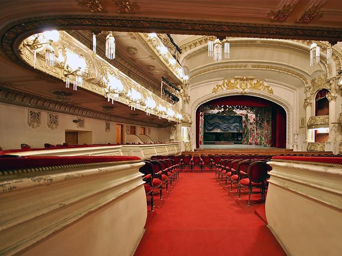 Teatro de Ópera e Ballet em Baku: o interior do salão