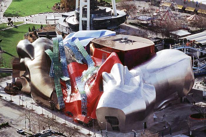Музей музыки в Сиэтле. Вид сверху.