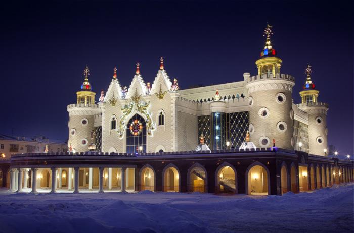 Татарский государственный театр кукол «Экият» ночью