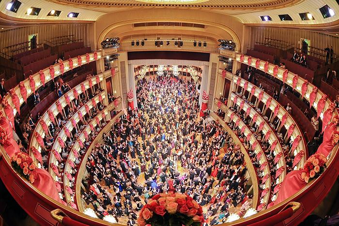 Оперный театр в Вене: интерьер зала