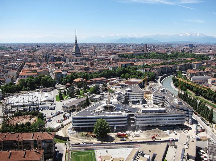 Кампус Университета Луиджи Эйнауди в Турине с высоты птичьего полета
