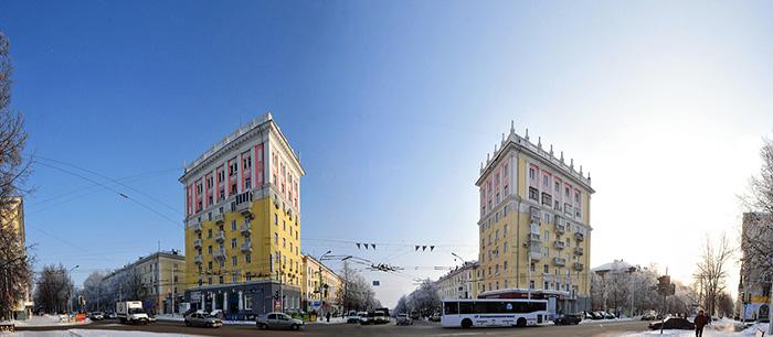 Восьмиэтажные жилые дома-близнецы