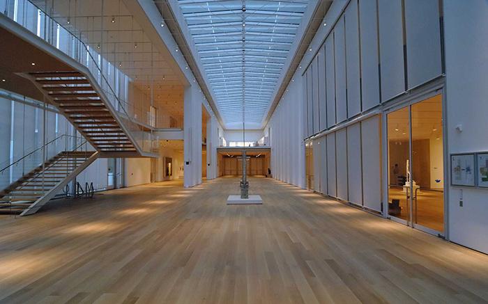 Современный корпус Института Искусств в Чикаго, США: интерьер помещения