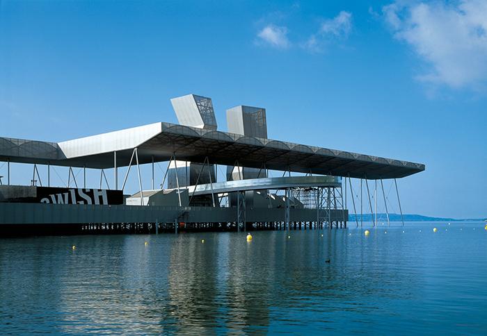 Павильон Arteplage на международной выставке Экспо-2002 в Биль-Бьенне, Швейцария