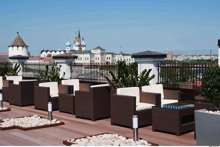Отель Courtyard by Marriott: на крыше здания