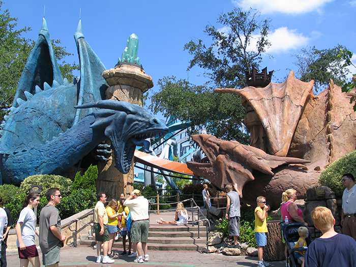 Парк развлечений «Острова приключений» в Орландо, США