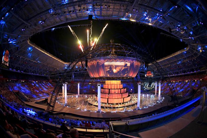 Футбольный стадион «Казань-арена» во время открытия Универсиады