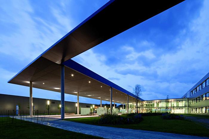 Клиника в Клагенфурте: ночной кадр