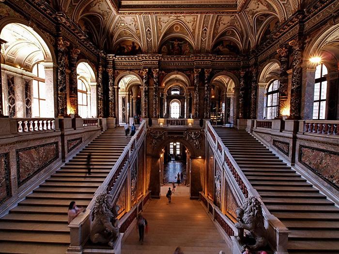 Музей истории искусств в Вене: интерьер помещений