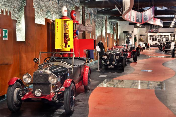 Автомобильный музей Mille Miglia в Брешии, Италия