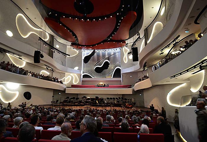 Концертный зал «Дом музыки» в Ольборге, Дания: интерьер зрительного зала