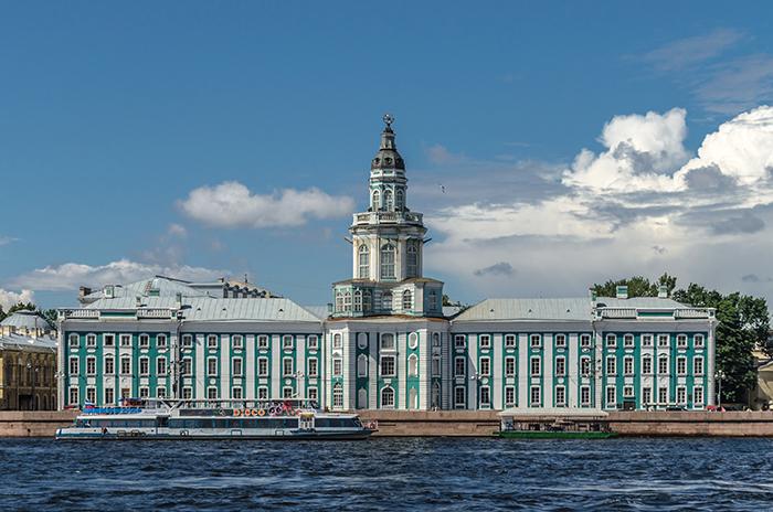 Музей антропологии и этнографии Кунсткамера в Санкт-Петербурге, Россия