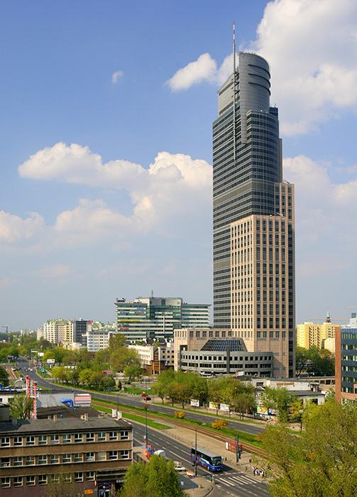 Башня торгового центра в Варшаве
