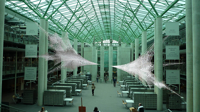 Библиотека университета в Варшаве: интерьер помещений