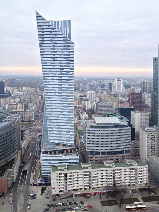 Жилой комплекс «Злота 44» в Варшаве с высоты птичьего полета