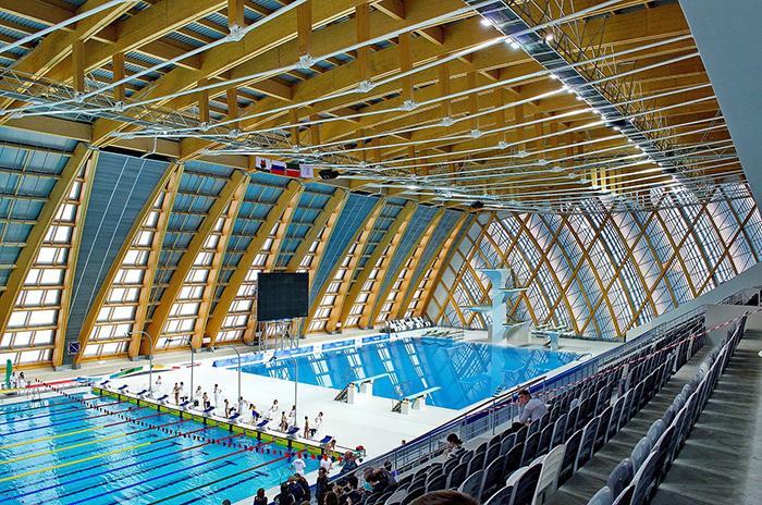 Дворец водных видов спорта: интерьер