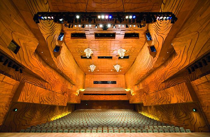 Centro de Victoria, em Melbourne Art: hall interior
