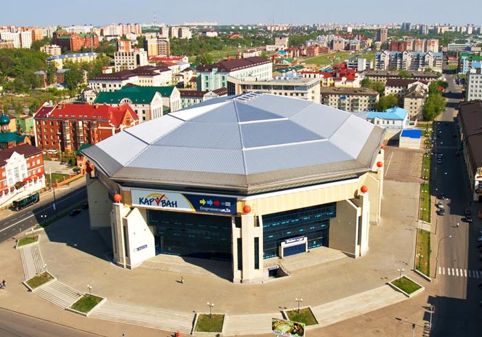 Спортивная арена «Баскет-холл» с высоты птичьего полета