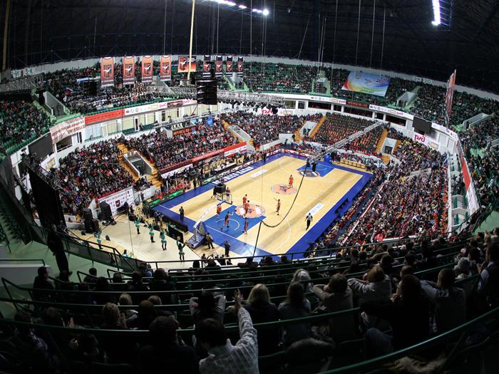 Спортивная арена «Баскет-холл»:вид с трибун