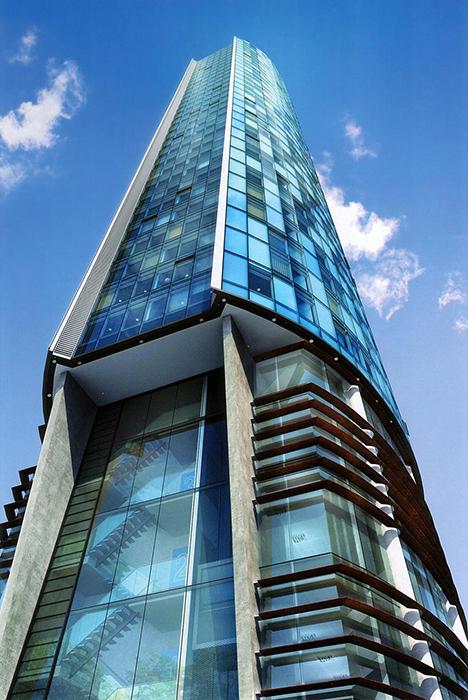 Небоскреб «Битхэм-тауэр» в Манчестере: фрагмент фасада
