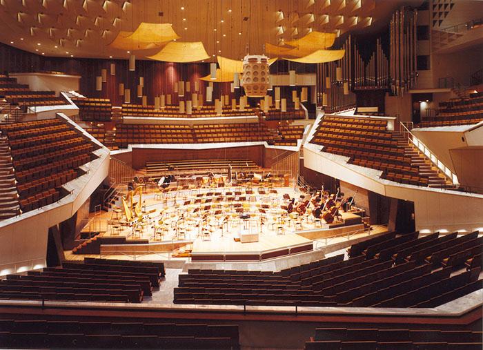 Филармония в Берлине: интерьер главного зала