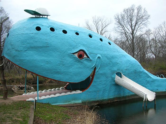 Пешеходный мост «Голубой кит» в Катузе, США