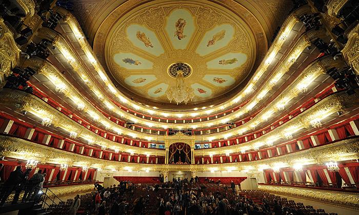 Teatro Bolshoi em Moscou: o interior do salão
