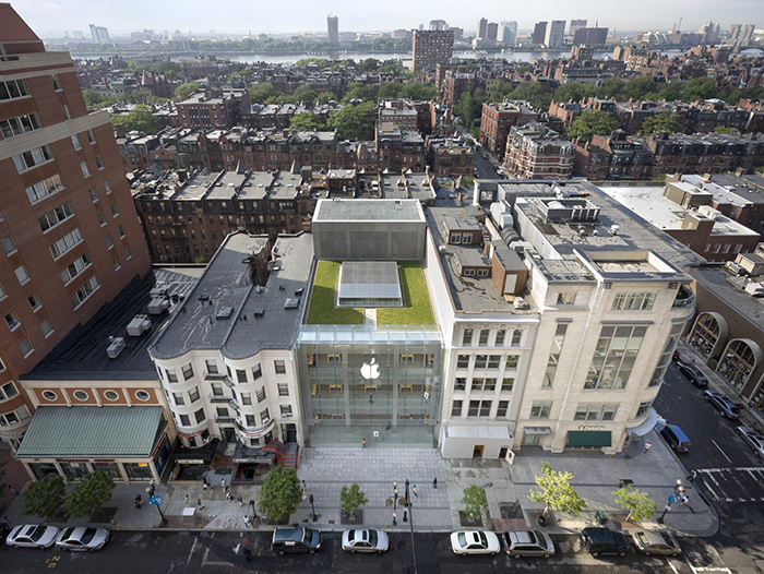Сад на крыше бостонского магазина