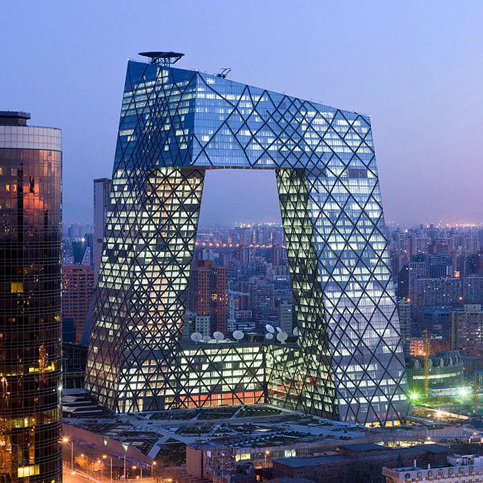 Штаб-квартира центрального китайского телевидения CCTV в Пекине