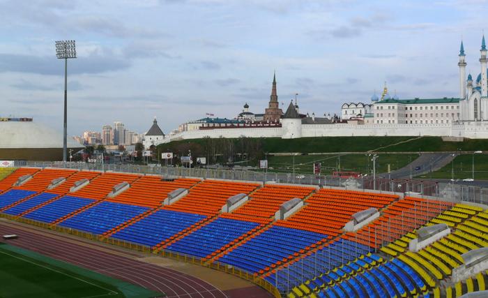Стадион «Центральный»: вид с трибун